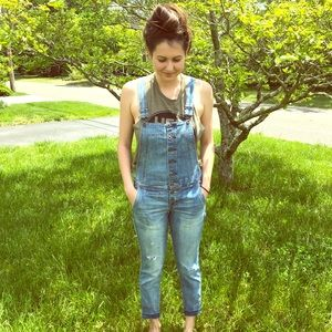 Free people button down overalls
